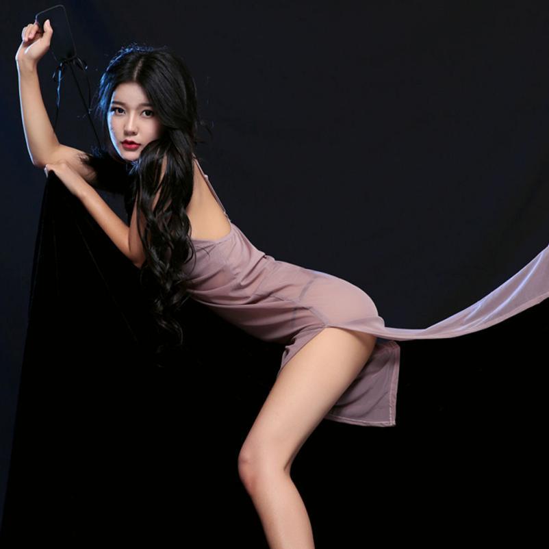 Hot sale women clothes for summer pajamas sexy deep v-neckunderwear new dresses cheongsam dresses big skirt