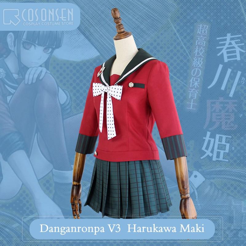 COSPLAYONSEN-New-DanganRonpa-V3-Harukawa-Maki-Dangan-Ronpa-V3-Halloween- Cosplay-Costume-Full-Set-Women-Dress.jpg 14439bf21f01