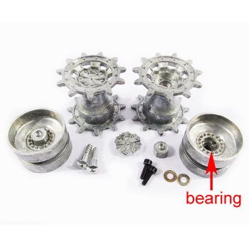 Mato 1:16 1/16 German Leopard 2 A6 metal wheels sprockets and idlers with bearings, for Heng Long 3889-1 Leopard 2 A tank