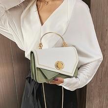 цена на ETAILL 2019 PU Leather Patchwork Women Messenger Bag Female Chain Strap Panelled Shoulder Bag Small Criss-Cross Ladies' Flap Bag