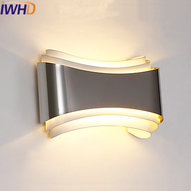 IWHD Ambient Modern Wall Light LED Living Room Luminaire Beside Wall Lights Fixtures Sconce Arandela Appliques Pared in LED Indoor Wall Lamps from Lights Lighting