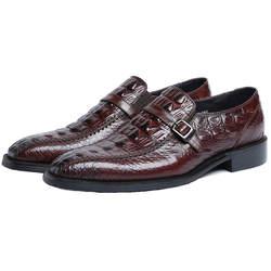Мужские модельные туфли ручной работы из крокодиловой кожи черного и коричневого цвета, свадебные туфли из натуральной кожи, мужские