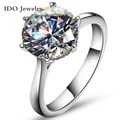 2016 New 4Ct 925 Sterling Silver Ring for Women CZ Diamond Wedding Ring Brand O anillos anel aneis Crystal Wholesale Jewelry 107