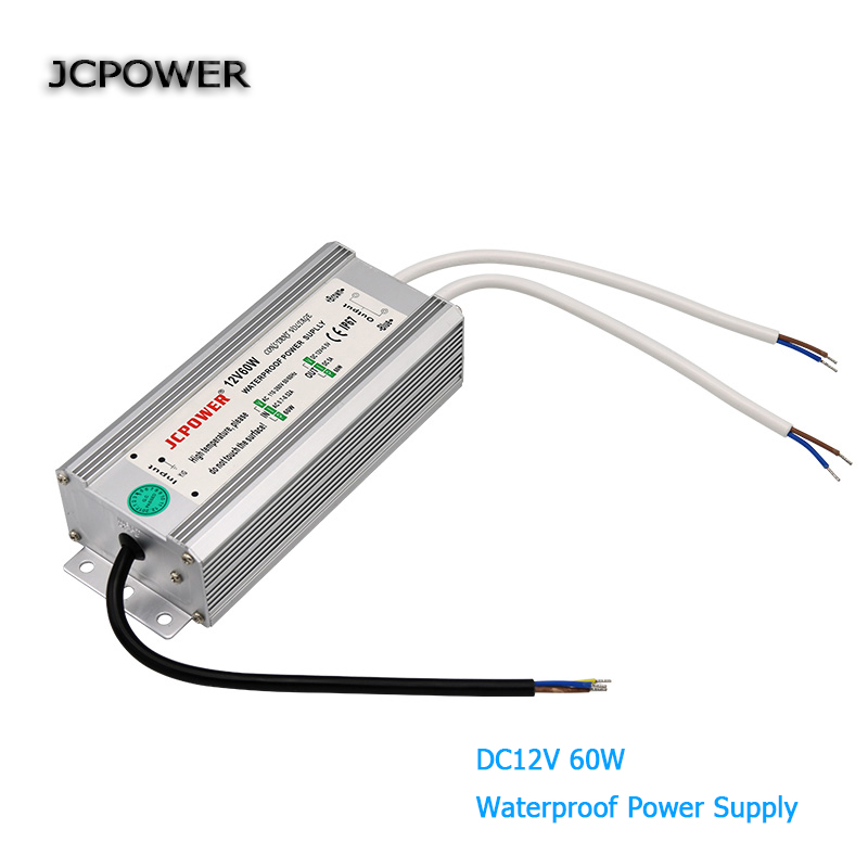 AC100V 110V 220V 240V to dc 12V 60W Led driver waterproof IP67 Power Supply lighting Transformer  for led strip LightsAC100V 110V 220V 240V to dc 12V 60W Led driver waterproof IP67 Power Supply lighting Transformer  for led strip Lights