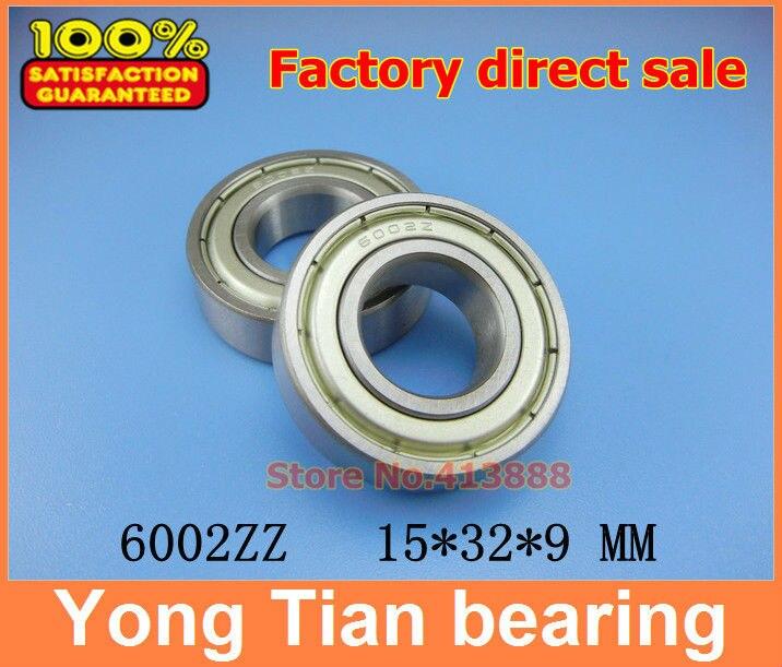 Высокое качество глубокий шаровой подшипник 6002ZZ 6002 Z 6002Z 6002-2Z 80102 15*32*9 мм 20 шт./лот Качество