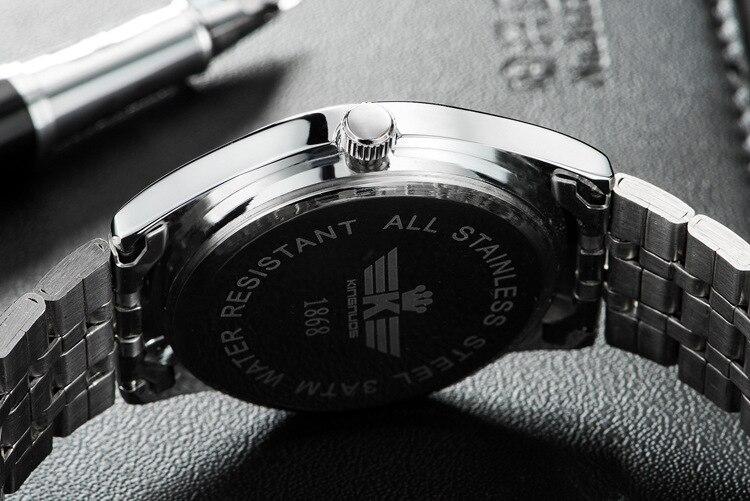 Kingnuos Tops Luxury Brand Men Full Stainless Steel Business Watches Men's Quartz Date Clock Men Wrist Watch relogio masculino 13