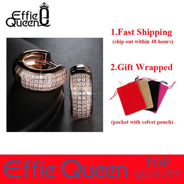 Effie Queen Newest Style Micro Paved AAA Zircon Earrings