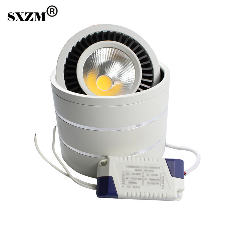 SXZM led COB downlight 5 W / 7 W / 9 W / 20 W oppervlak mouted led-lamp AC85-265V plafond spot licht en led driver Warm wit / natuurlijke wit