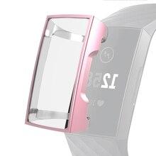 Аксессуары, защита экрана прочный защитный чехол полностью закрытый чехол смарт-часы против царапин мягкий TPU для Fitbit Charge 3