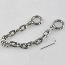 Toe bondage chain anklet bdsm fetish slave foot restraints stainless steel metal toes cuffs 26cm long chains shackles sex toys