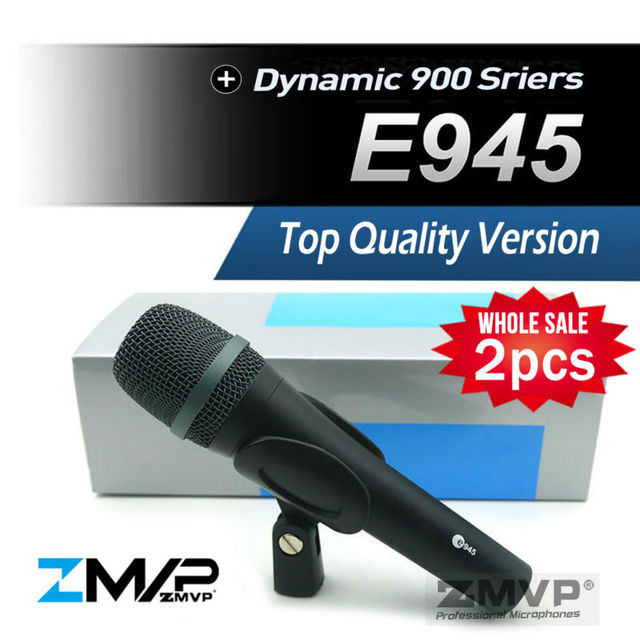 Free Shipping! 2pcs/lots Top Quality E945 Dynamic Super Cardioid Karaoke Vocal Wired Microphone e 945 Microfone fio Microfono