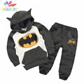 Belababy Boy Clothing Set New Autumn Children Long Sleeve Cartoon Batman T-shirt+Pant Winter Girl 2PCS Cosplay Clothes Sets