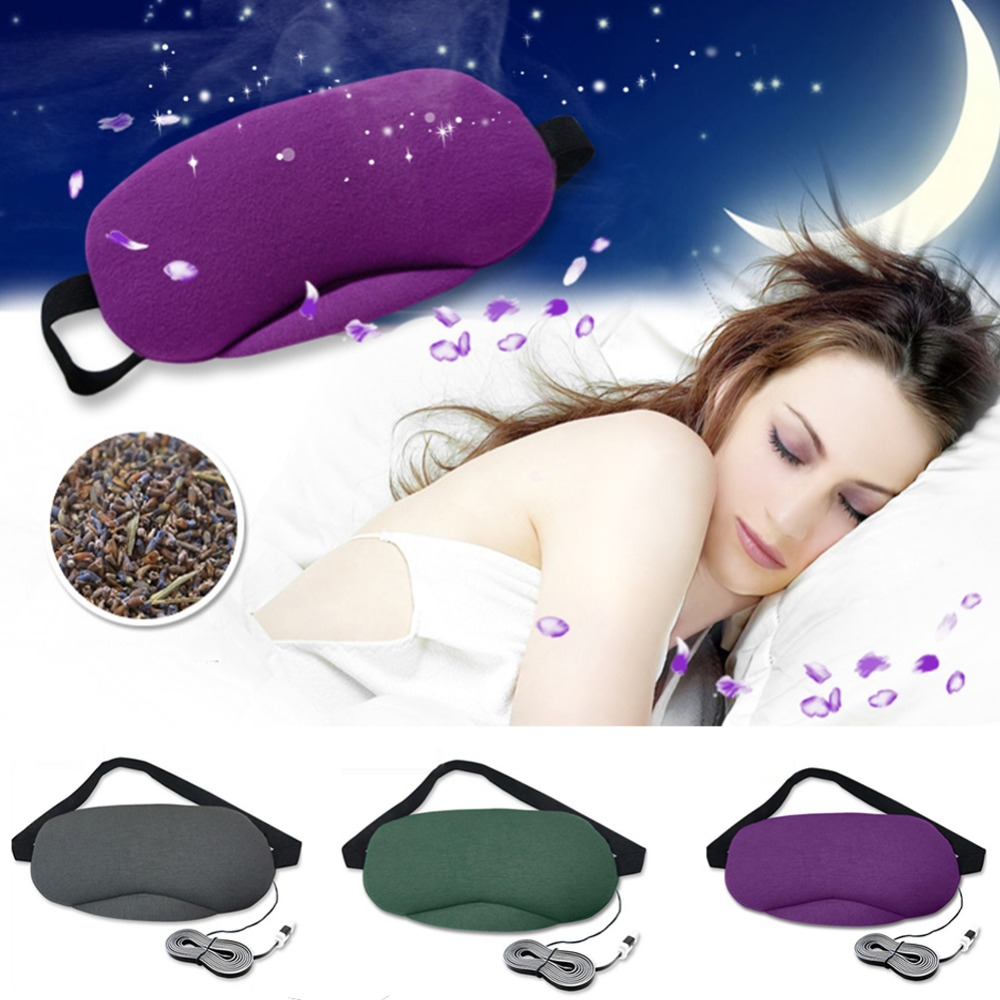 Eye Mask Sleeping Physical therapy Heating Lavender Goggles Warming USB Steam Heating Massage Eye Mask Relieve Fatigue L3 kongdy 4 bags lavender eye steam mask hot warming eye mask for tired eyes relaxing remove dark circles masks massage relaxation