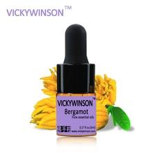 Bergamot essential oil 5ml 100% Pure Oils Clear Skin Control Facial Care aromatherapy organic massage