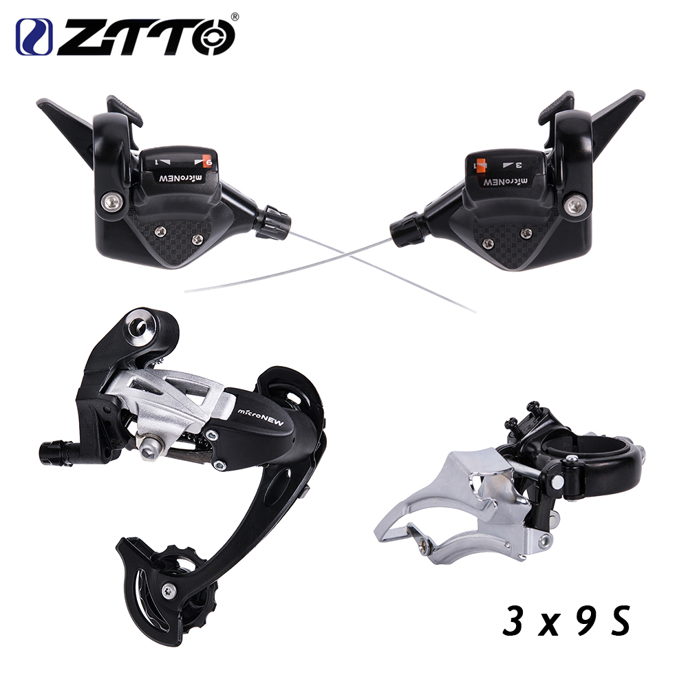 Bicycle MTB 3X9 27 Speed Front Rear Shifter Derailleur Groupset for Shimano m4000 m370 m430 m590 system original microshift bicycle derailleur set ts83 9 shifters 3x9 speed trip mtb bike derailleur groupset compatible for shimano