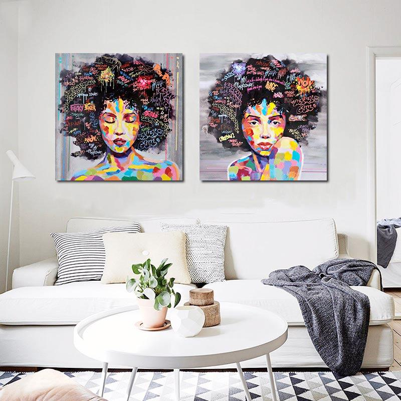 Living Room By Sucasadesign Homeadore: African WomAn Portrait Canvas Wall Oil Painting Prints