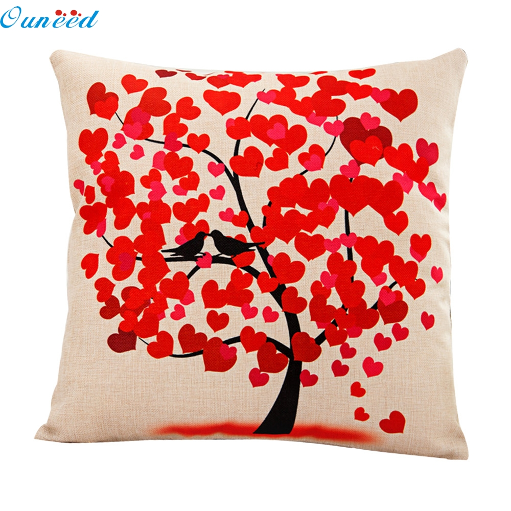 Flower Tree Pillow Case Sofa Waist Throw Cushion Cover Home Decor 100% Brand new Free Shipping Oct7
