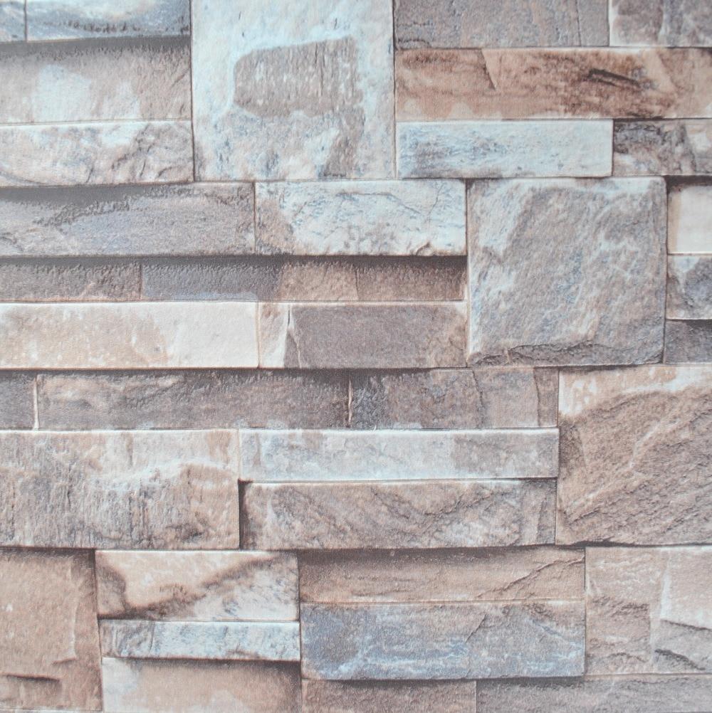 Cozinha Efeito 3d Em Relevo Papel De Parede De Pedra Do Tijolo Vinil  -> Papel De Parede De Pedra