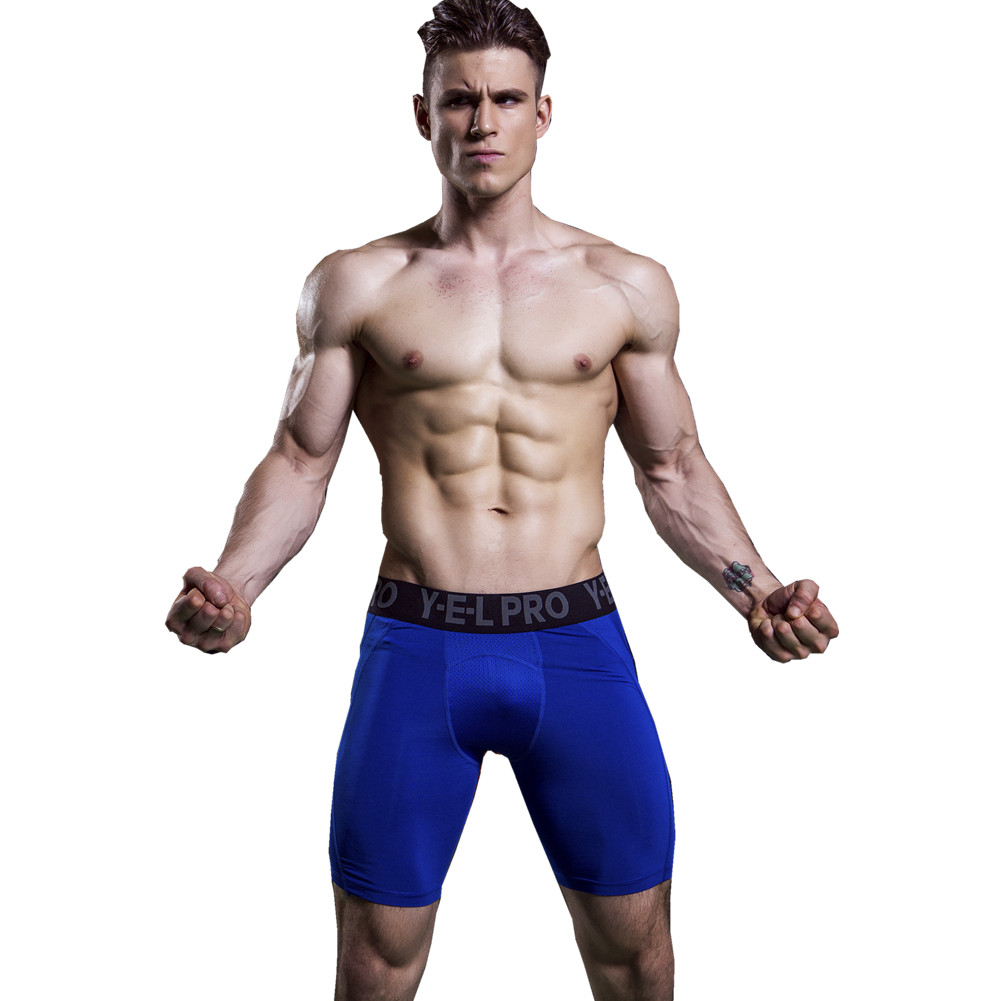 Shorts Gym Training Compression Breathable Men 1045 Mesh Base-Layer Thermal-Tights Skinny
