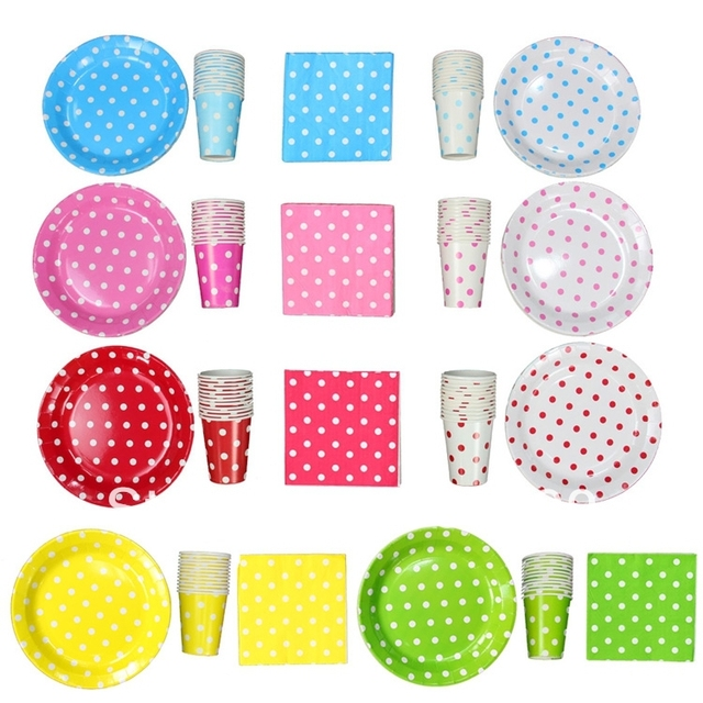 Free Ship 288pkt Stylish Partyware Pretty birthday Party supplies Accessories paper party Plates Cups Glasses Napkins  sc 1 st  AliExpress.com & Free Ship 288pkt Stylish Partyware Pretty birthday Party supplies ...