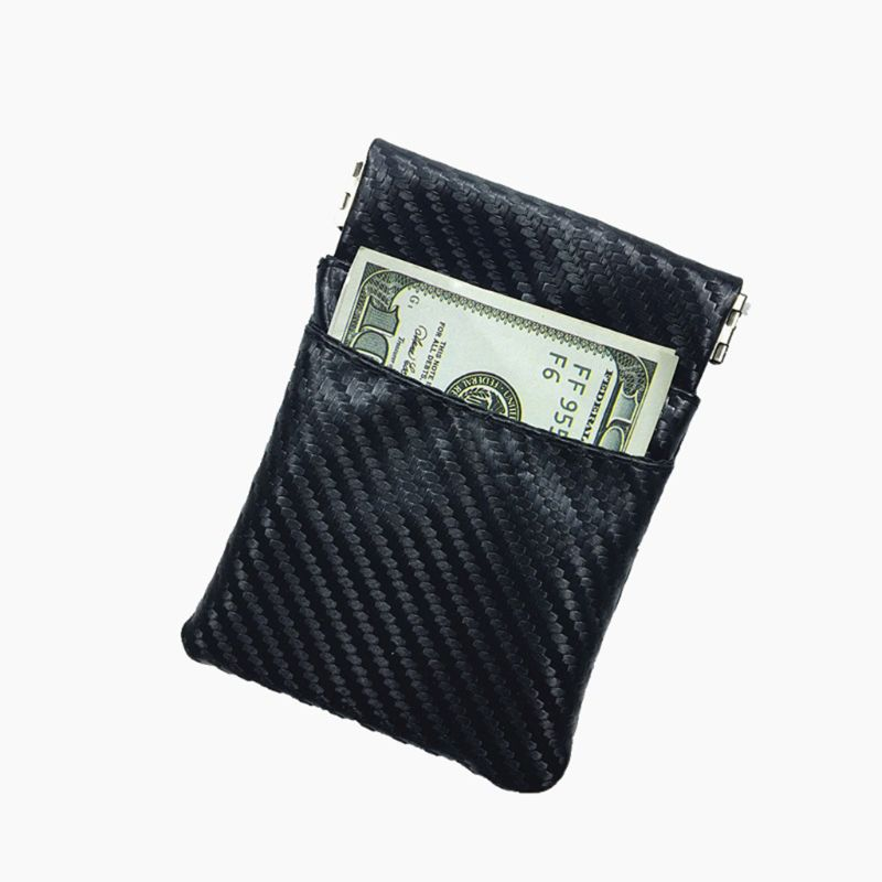 THINKTHENDO Women Men Leather Coin Purse Card Wallet Metal Spring Closure Small Change Bag PU Wallet Purse
