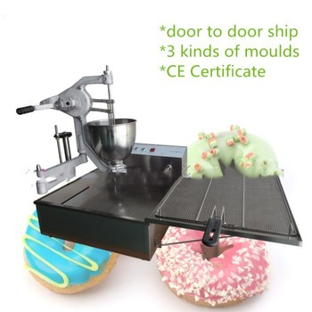 2017 CE approved manual donut fryer machine,stainless steel ball donut maker machine,hand operation Doughnut Maker with 3 molds фото