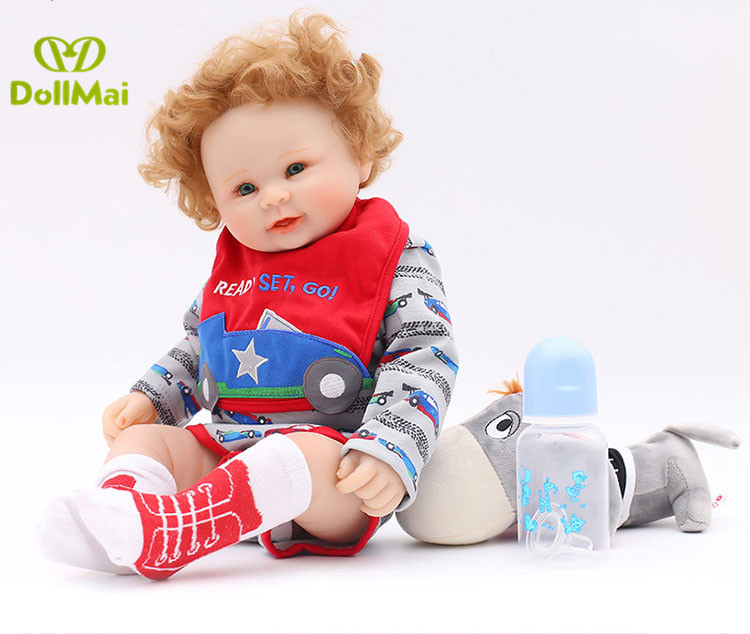 Dolls Cheap Price 46cm Bebes Reborn Menino Fashion Dolls Full Vinyl Silicone Body Reborn Boy Baby Doll Gift For Kids Fake Baby Newborn Doll Beautiful And Charming