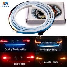 YM E-Bright, 1 набор, 120 см, 150 см, 335 LED, для автомобиля, для укладки, динамический стример, поворот, задний багажник, светодиодные сигнальные огни, голубой, белый+ красный