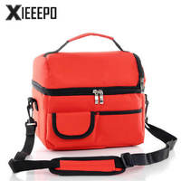 Casual Lunch Bag Portable Insulated Cooler Bags Polyester Thermal Food Picnic Lunch Bags For Women Kids