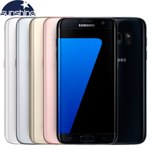 Original Samsung Galaxy S7 Edge 4G LTE Mobile Phone 5.5 inch 12.0 MP Octa Core  4GB RAM 32GB ROM WIFI  NFC Cell phone