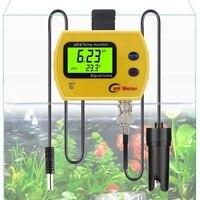 Professional Online pH TEMP Meter Portable Acidimeter Aquarium Fine Drinking Water Quality Monitor 0.01 PH Electrode Analyzer