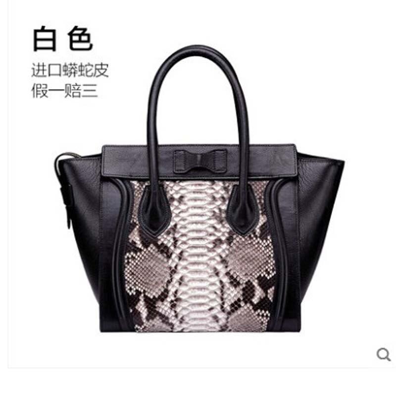 gete new New snakeskin women's bag genuine leather handbag wing bag imported python genuine snakeskin women's handbag