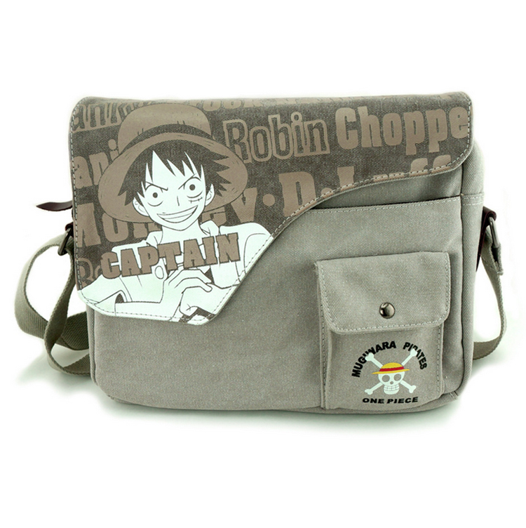 Anime One Piece Cosplay Monkey D Luffy Cos Men and women casual canvas shoulder bag Messenger bag student bag anime mirai nikki cosplay gasai yuno cos anime bag shoulder bag messenger bag computer bag student handbags child birthday gift