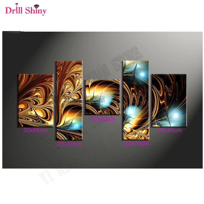 New5d diy diamond painting full drill resin Diamond embroidery triptych painting rhinestones Modular wall paintings Hobby
