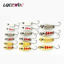 NEW Mini fishing spoon lures 3CM 1.5g 3g 5g spinnerbsit Minnow small fish bucktail jig metal lure bodies Stream Trout baits hot