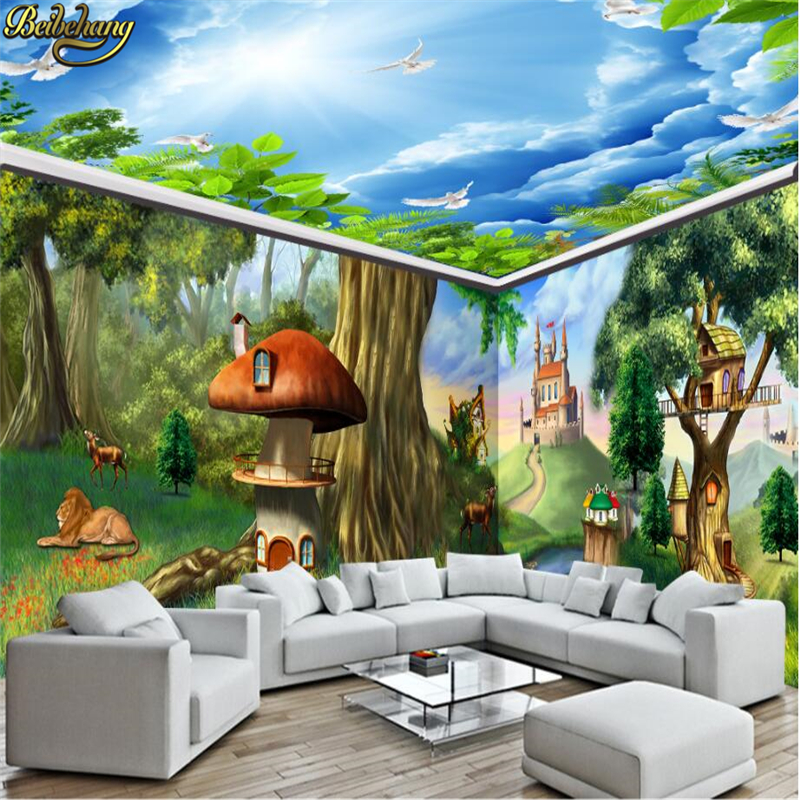Beibehang Fantasy Fairy Tale Forest Full House Photo Wall