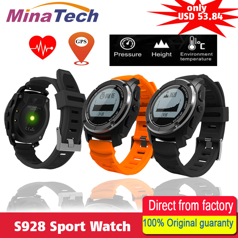 S928 Sport Smart Watch G-sensor GPS Outdoor Heart Rate Monitor Smart Wristband for Smartwatch Android IOS Smart Phone