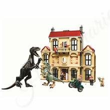 Jurassic World Park Velociraptor T Rex Indoraptor Carnotaurus Building Blocks Dinosaur Bricks Compatible Lego