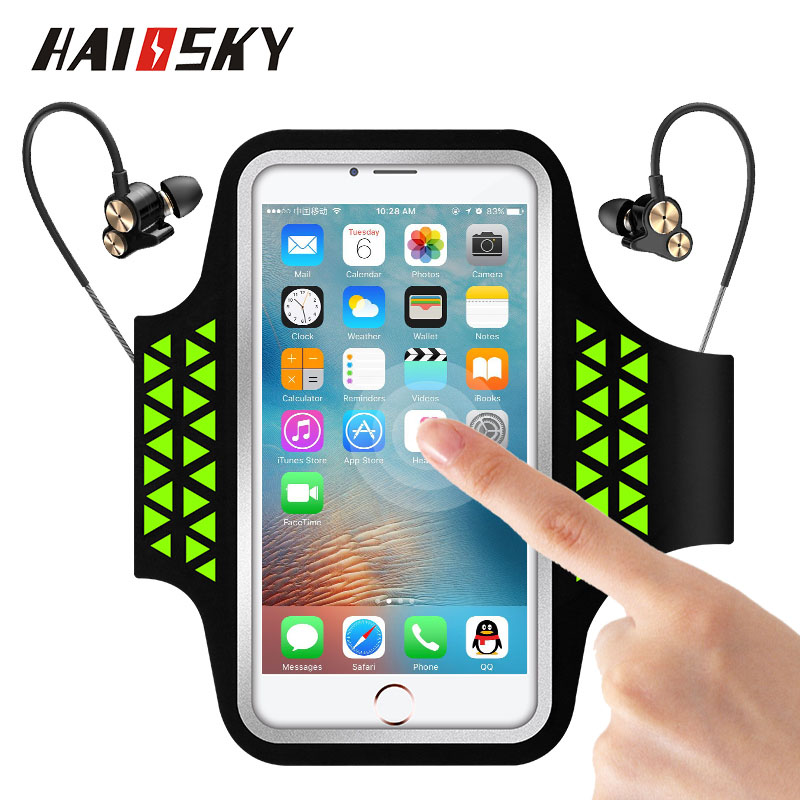 Haissky Sport Running Armband Case For Iphone Xs Xr 6s 7 8 Plus Samsung S8 S9 Plus Xiaomi Mi8 Pocophone F1 Touch Screen Arm Bag Neither Too Hard Nor Too Soft Armbands