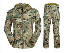 CP Camo HIgh Quality TAD V 4.0 Men Outdoor Travel Camping Hiking Windproof Coats Jacket Hoody Softshell Jacket+pants Set Suits