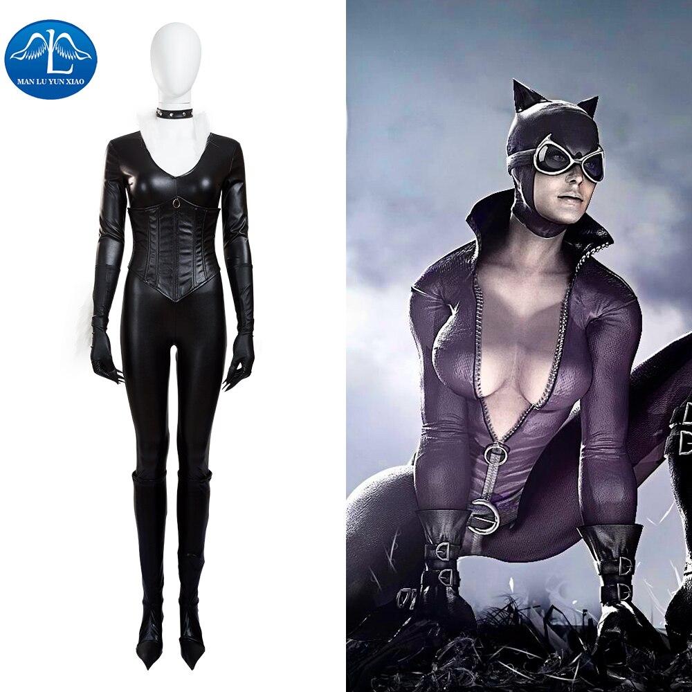 Manluyunxiao New Women Sexy Black Jumpsuit The Amazing Spider Man
