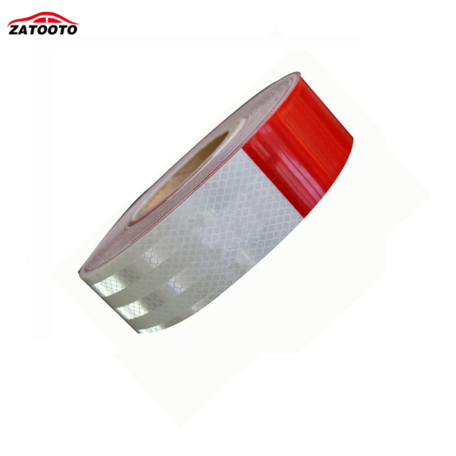 """2""""*147' High Quality Red/white Reflective Warning Conspicuity Tape conspicuity strips Reflective Material"""