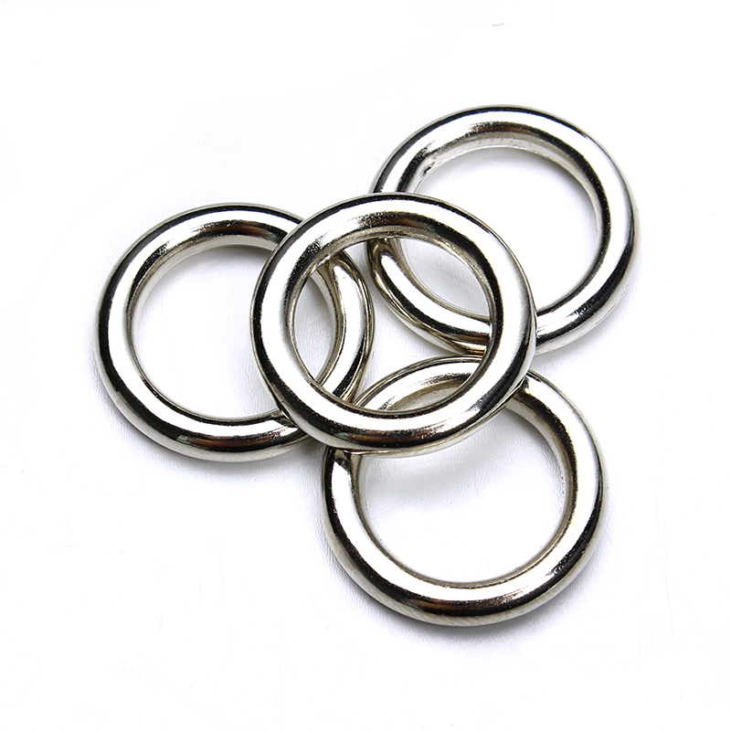 50pcs/lot Rhodium Closed Jump Rings 15mm Single Loop Plastic Split Rings For DIY Jewelry Making Finding Connectors F3677