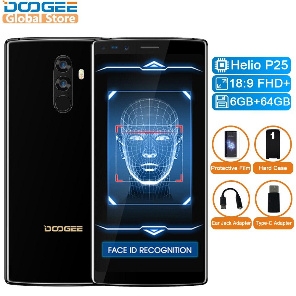 Doogee оригинальный MIX 2 Android 7.1 4060 мАч 5.99 ''FHD + helio P25 Восьмиядерный смартфонов Quad Камера 16.0 + 13.0 Мп 6 ГБ Оперативная память 64 ГБ Встроенная память