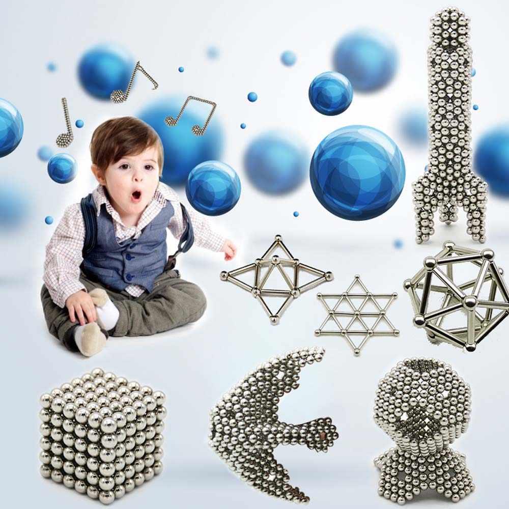 Klocki magnetyczne układanki magnetyczne kije i kulki stalowe magnes konstruktor zabawki dla dzieci dorośli zabawki antystresowe