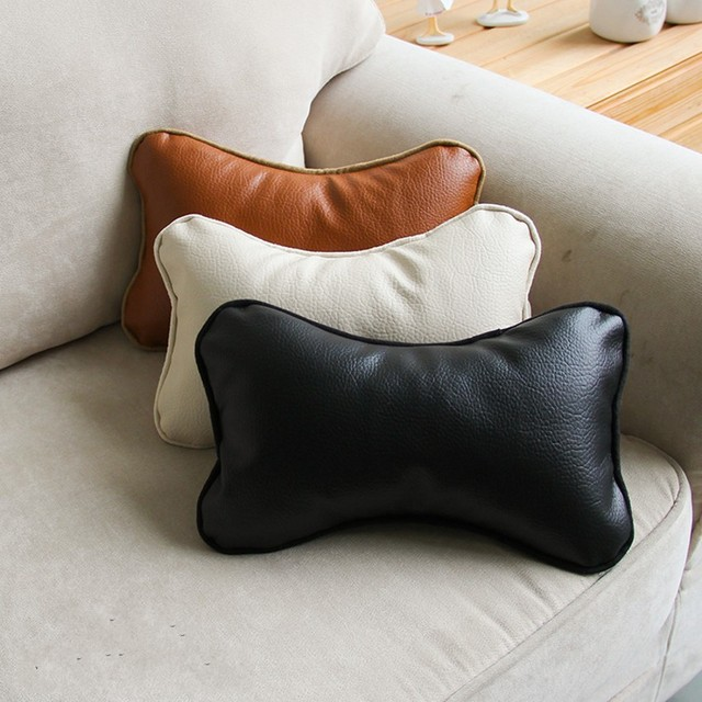 Pu Fur Cute Bones Shaped Sofa Back Cushion Leather Throw Seat For Furniture Upholstery