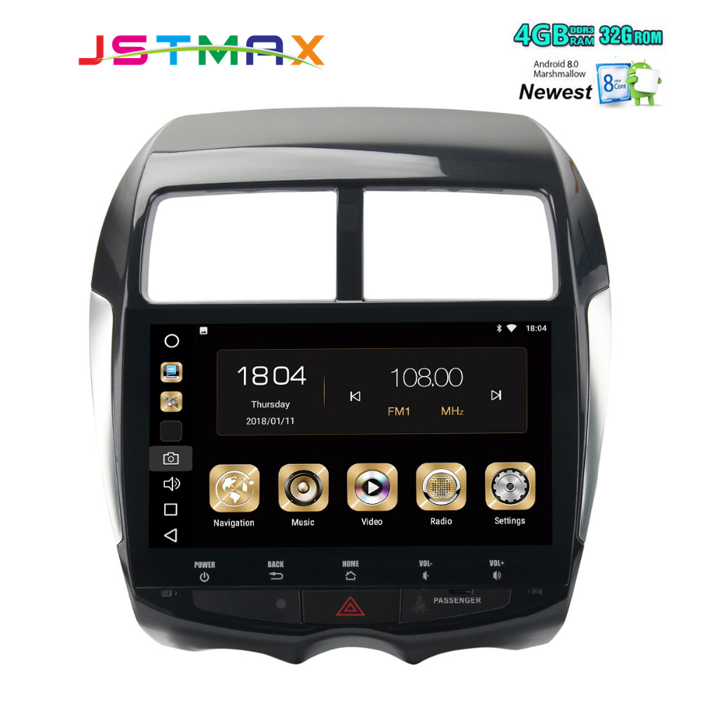 10 2 Car 2Din Android 8 0 GPS for Mitsubishi ASX Citroen C4 autoradio navigation headunit