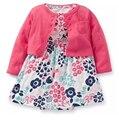 2017 marca meninas do bebê roupas crianças 2 pc/set 100% macacão de algodão + dress + shorts dress recém-nascidos roupas da menina da criança