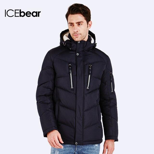 ICEbear 2016 Новая Мода мужская Одежда Ветровка Спортивная Открытый Зимние Теплые Куртки И Пальто Для Мужчин 16MD881