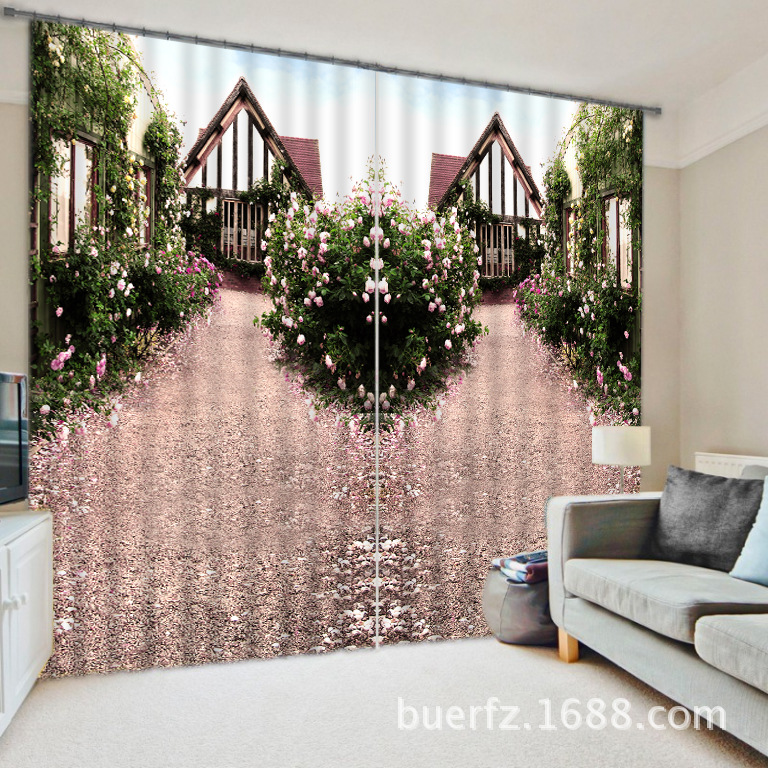 Beautiful streetscape 3D Blackout Curtains For Living room Bedding ...